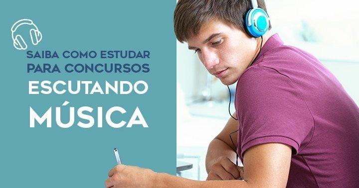 Pessoa escutando música para estudar