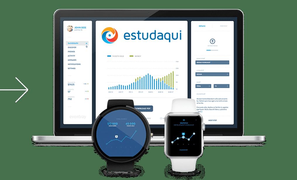 Imagem Desktop Estudaqui App de Estudo para Concursos