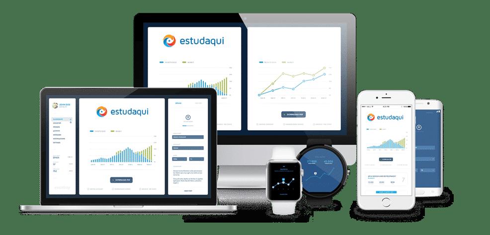 Imagem Multiplataforma Estudaqui App de Estudo para Concursos