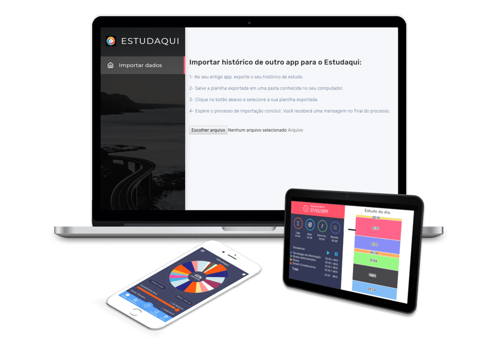 Estudaqui aplicativo para concurso enem oab multiplataforma