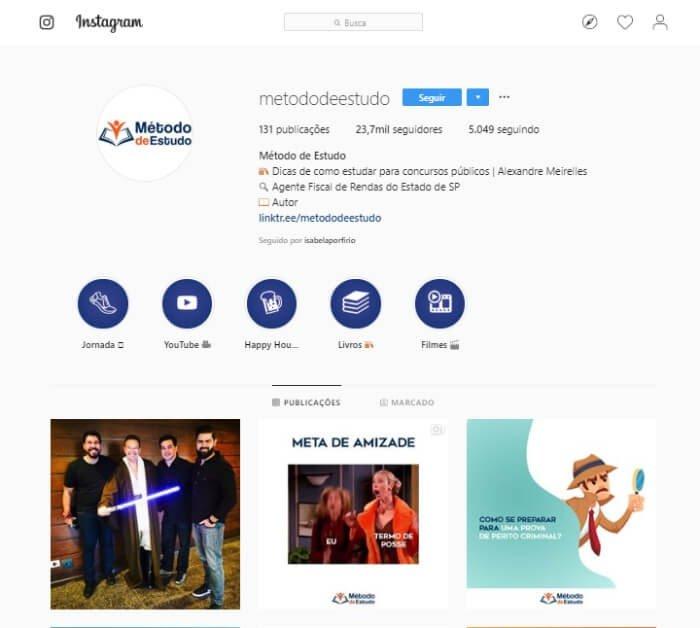 Instagram de concurseiros