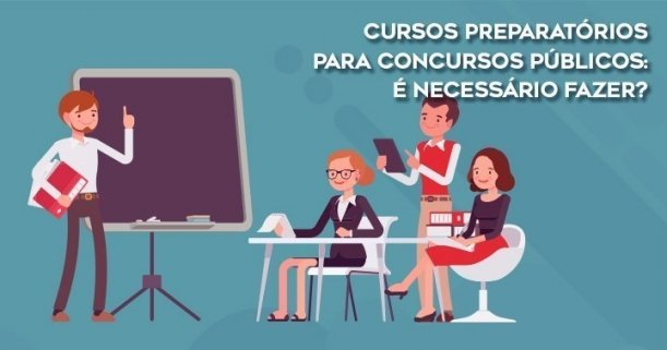 Cursos preparatórios para concursos públicos