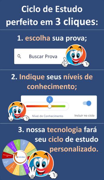 Ciclo de estudo em 3 passos Sidebar Blog